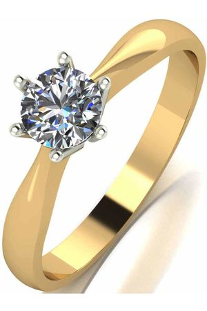 Moissanite Women Rings - 9 Carat 50 Point Solitaire Ring