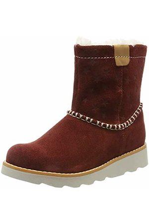 Clarks Girls' Crown Piper K Slouch Boots, Dark
