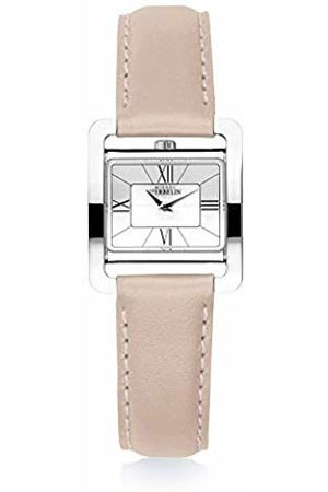 Michel Herbelin Womens Analogue Quartz Watch with Real Leather Strap 17137/08ROZ