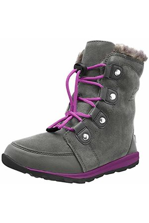 sorel Unisex Kids Youth Whitney Suede Snow Boots, Grey (Quarry, Raspberry)