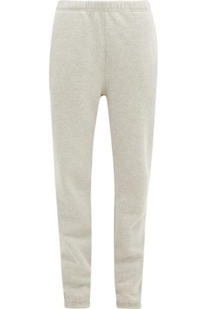 Les Tien Brushed-back Cotton-jersey Track Pants - Womens