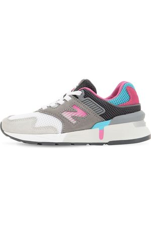 New Balance Girls Trainers - 997 Mesh & Suede Slip-on Sneakers