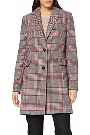 Brax Women's Porto Outdoor Check Mantel Coat, (Dark 5)