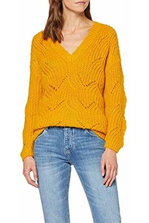 Only Women's Onlhavana L/s V-Neck Pullover Cc KNT Jumper, Golden