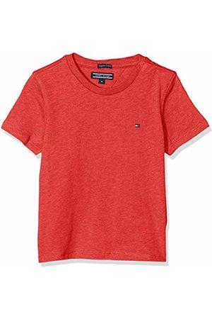 Tommy Hilfiger Boys Basic Cn Knit S/s T-Shirt, (Apple Heather 601)
