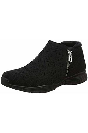 Skechers Women's Seager Ankle Boots, ( Heather Flat Knit BBK)