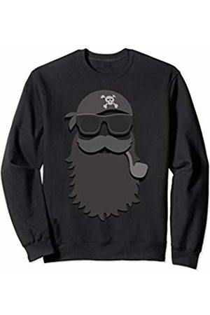UAB KIDKIS Relaxed Pirate Sun Glasses Funny Bearded Men Gift Sweatshirt