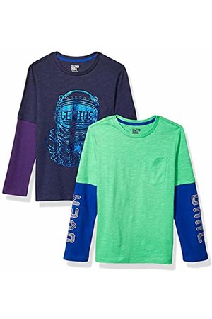 Spotted Zebra 2-pack Long-sleeve 2-in-1 T-shirts Astro Genius