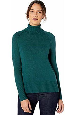 Lark & Ro Rib Detail Turtleneck Sweater Hunter