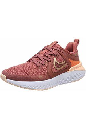 Nike Women's WMNS Legend React 2 Running Shoes, (Lt Redwood/MTLC Bronze/Crimson Platinum Tint 800)
