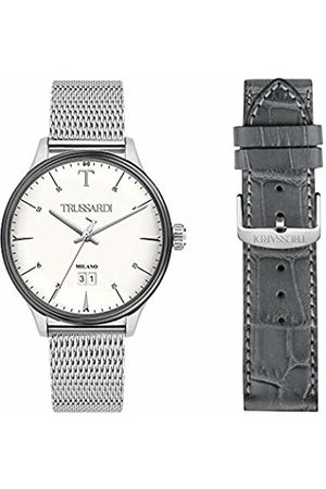 Trussardi Mens Analogue Quartz Watch with Stainless Steel Strap R2453130003