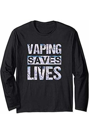 Eat Sleep Vape Repeat Vaping Gifts ADC Vaping Saves Lives Clouds Adults Like Flavors Vape Ban Long Sleeve T-Shirt