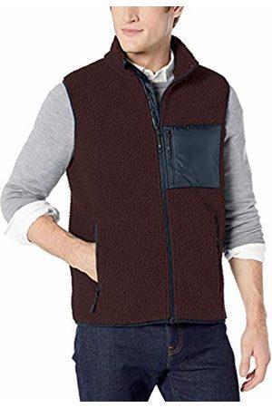 Goodthreads Sherpa Fleece Vest Burgundy