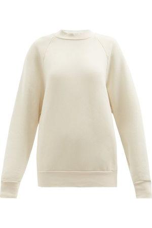 Les Tien High-neck Brushed-back Cotton Sweatshirt - Womens - Ivory