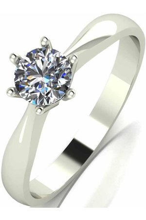 Moissanite Women Rings - 9 Carat 50Pt Solitaire Ring