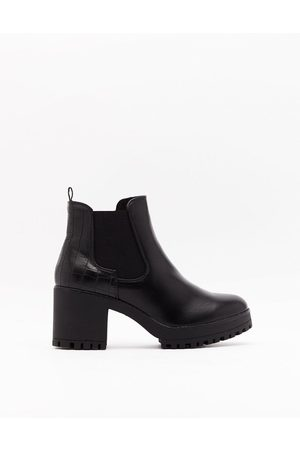 NASTY GAL Womens Race to the Croc Faux Leather Chelsea Boots - - 3
