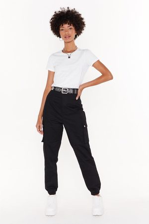 NASTY GAL Womens High-Waisted Utility Trousers with Zip Closure - - 6