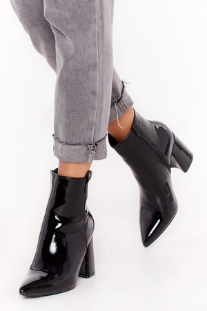 NASTY GAL Womens Your Love Shines On Patent Faux Leather Boots - - 3