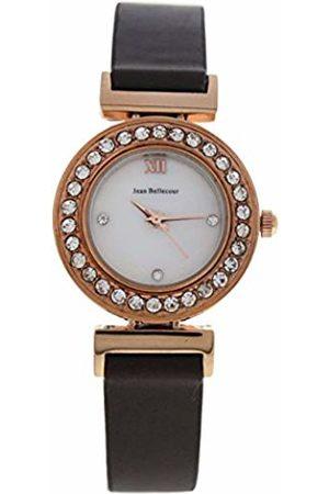 Jean Bellecour Unisex-Adult Analogue Classic Quartz Watch with Leather Strap REDL2