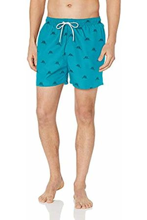 "28 Palms 4.5"" Inseam Tropical Hawaiian Print Swim Trunk /Navy Sailfish"