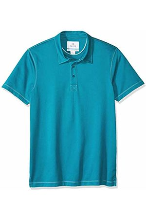 28 Palms Standard-Fit Hawaiian Performance Pique Polo Shirt Teal Solid