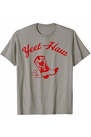 Cowboy T-Shirt Yeet-Haw Red Cowboy Boot T-Shirt
