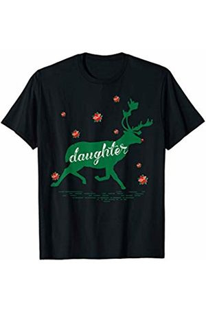 Funny Reindeer Family Shirts Reindeer Daughter Christmas Family Matching Pajamas T-Shirt