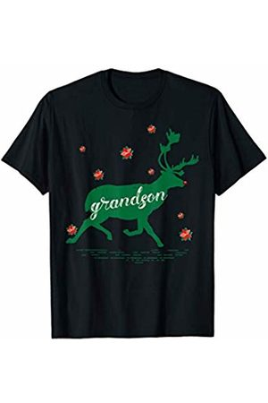 Funny Reindeer Family Shirts Reindeer Grandson Christmas Family Matching Pajamas T-Shirt