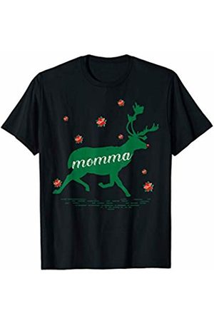 Funny Reindeer Family Shirts Reindeer Momma Christmas Family Matching Pajamas T-Shirt