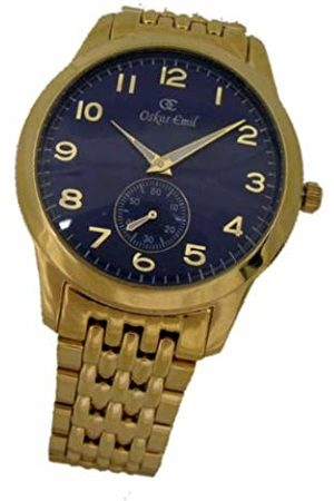 Oskar Emil Basel Gold Classic Gents Watch with Gold IP Plated Stainless Steel Case and Strap
