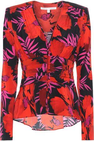 VERONICA BEARD Pevero floral stretch-silk top