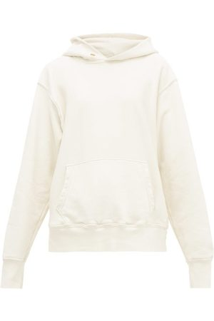 Les Tien Brushed-back Cotton Hooded Sweatshirt - Womens - Ivory
