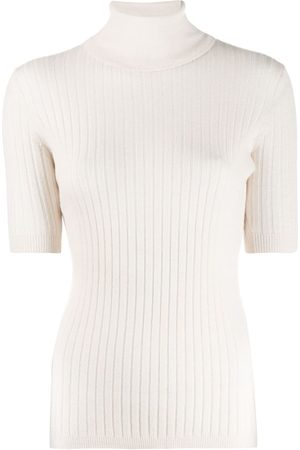 Cashmere In Love Roll-neck pullover top - NEUTRALS