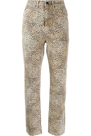 Alexander Wang Women Trousers - Cheetah print trousers - Neutrals