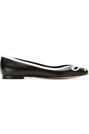 Sarah Chofakian Leather ballerina shoes