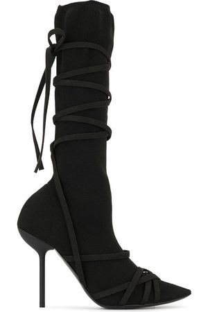 Unravel Project Women High Leg Boots - Strappy knee-high boots