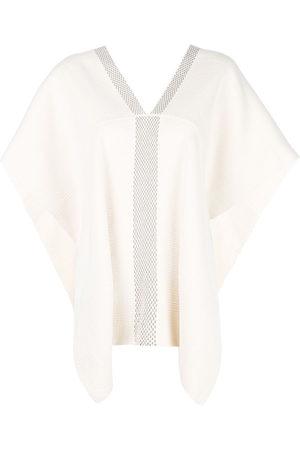 Voz Short-sleeve flared sweater - Ivory/Truffle