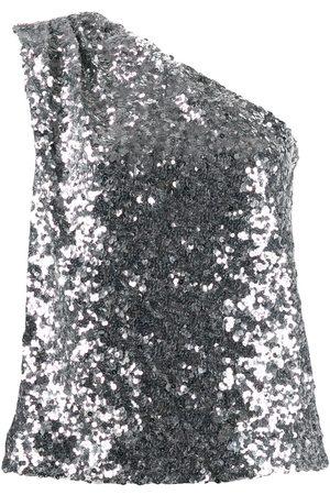 HALPERN Women T-shirts - Off-the-shoulder sequin top - Metallic