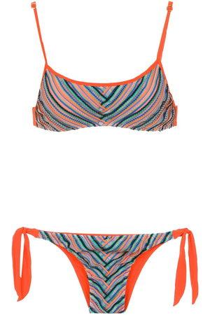 AMIR SLAMA Women Printed Dresses - Printed bikini top