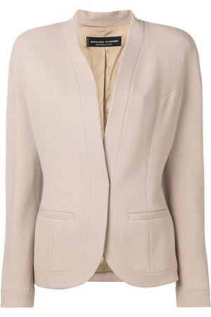 Jean Louis Scherrer Pre-Owned Women Blazers - Collarless blazer - Neutrals