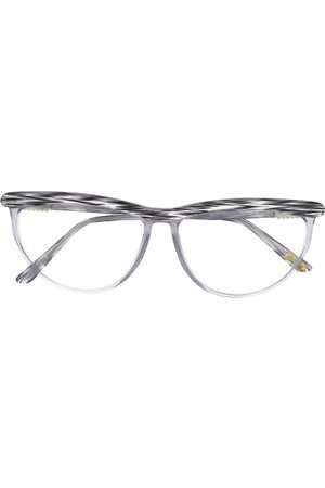 VERSACE Oval frame glasses