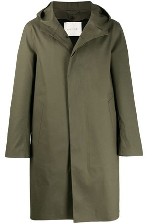 MACKINTOSH Men Trench Coats - CHRYSTON Grape Leaf Bonded Cotton Hooded Coat | GR-1003D