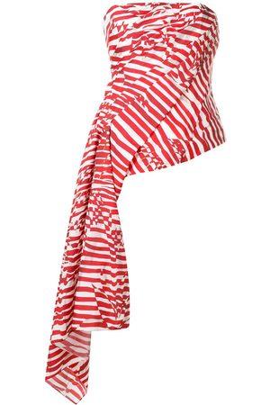 HALPERN Women Tops - Draped strapless top