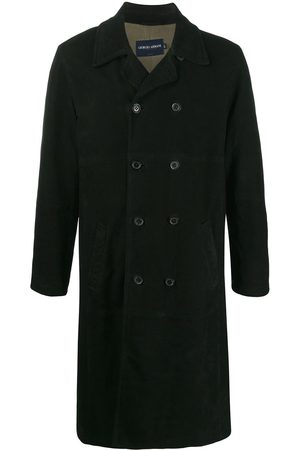 Giorgio Armani Men Trench Coats - 1990s double-breasted trench coat
