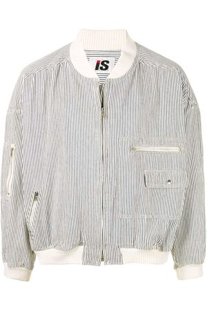 Issey Miyake 1980's Sports Line striped bomber