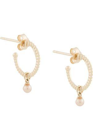 Karen Walker Wisdom Pearl hoop earrings