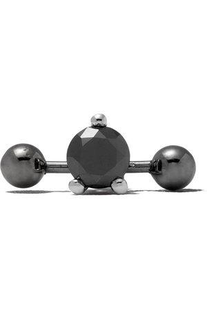DELFINA DELETTREZ Farfetch Exclusive 18kt Two In One Pierced Black Diamond stud - /