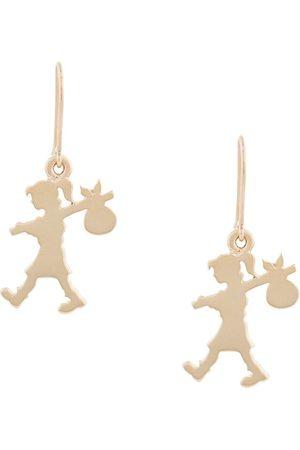 Karen Walker 9kt Runaway Girl earrings