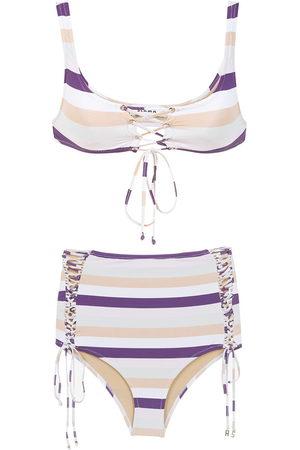 AMIR SLAMA Women Bikinis - Striped bikini set