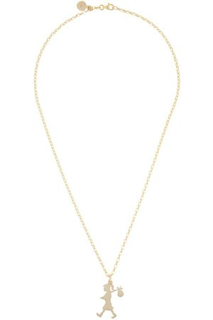 Karen Walker 9kt gold large Runaway Girl pendant necklace - Metallic
